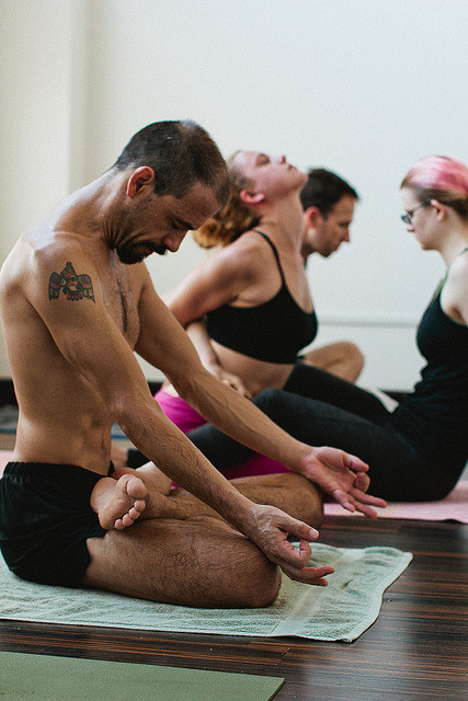Mysore Ashtanga Yoga by carabros on Flickr.
