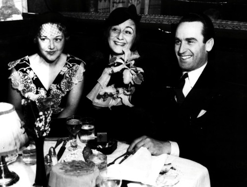Mildred Davis, Frances Marion, and Harold Lloyd, c. 1934.