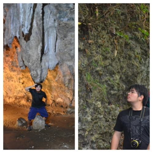 arvin at hayop-hayopan cave…crushed by stalactites and admiring coral wall formations…
