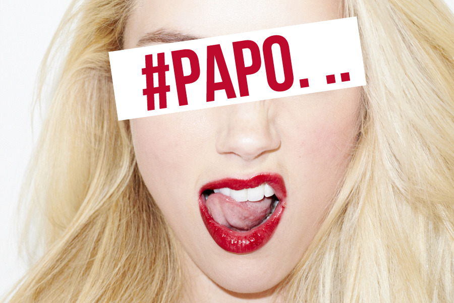 *Amber Ya Heard. .. #Papo . [photo by Terry Richardson]