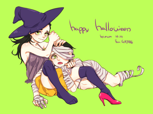 army-mum:  trick or treat! paint tool: sai, request for gajee!
