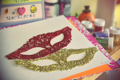 Handmade Masquerade Halloween mask on Flickr.