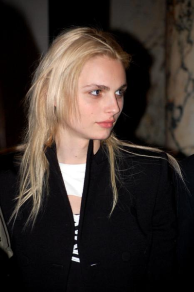 an-andrej-pejic-blog:  Departure Fashion Night 2011 I did a red-eye removal, because in the original, Andrej looks like something the Winchester brothers would throw salt and holy water on.
