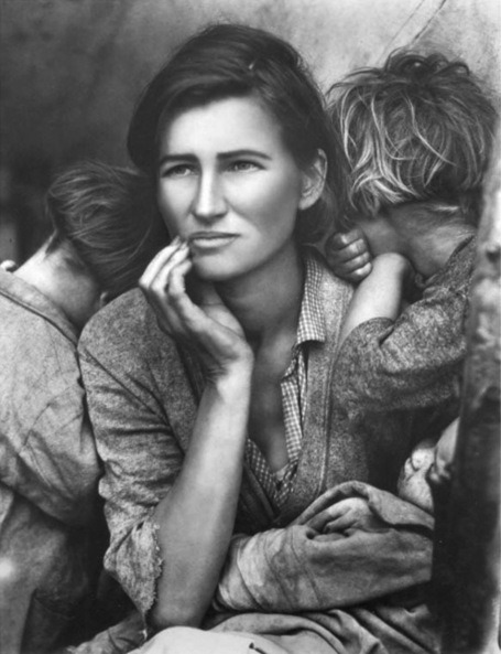 "Kathy Grove - Retouching/prettifying of Dorothea Lange's ""Migrant Mother"""