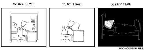 laughingsquid:  Work Time, Play Time, Sleep Time