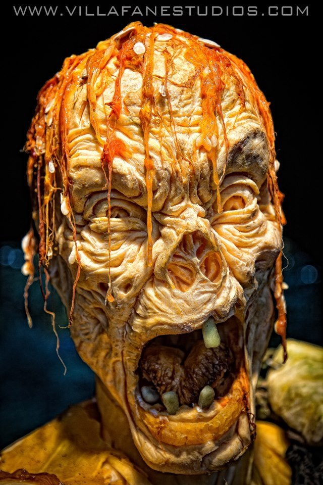 laughingsquid:  Ray Villafane & His Team Carve Huge Pumpkins Into Pumpkin Zombies