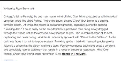 "Mondo Nation Review of ""Check Your Swing""!"
