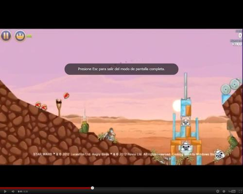 Angry Birds Stars Wars Filtrado a traves de un video de Windows 8