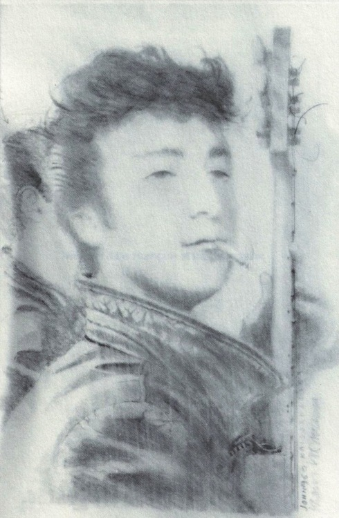 britishbeatlemania:   Teddy Boy John by Klaus Voormann