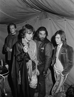 Mick Jagger & Charlie Watts with Hells Angel. — Photograph © Ethan Russell. All rights reserved. From the start, the Altamont festival was a disaster in waiting. The stage was too low, the crowd too close, the Hells Angels too wired on beer and bad acid. Such was the rush to stage the festival that there were no food or drink outlets, and few toilets. Read more…