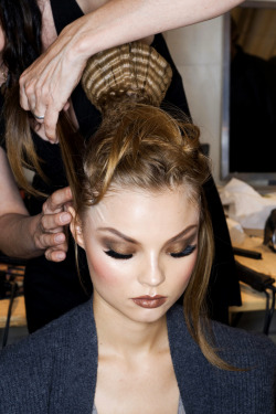 Magdalena at Christian Dior Backstage S/S 2009
