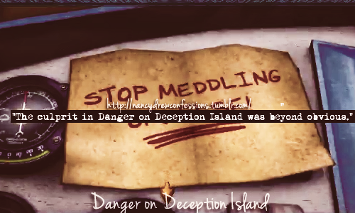 """The culprit in Danger on Deception Island was beyond obvious."""