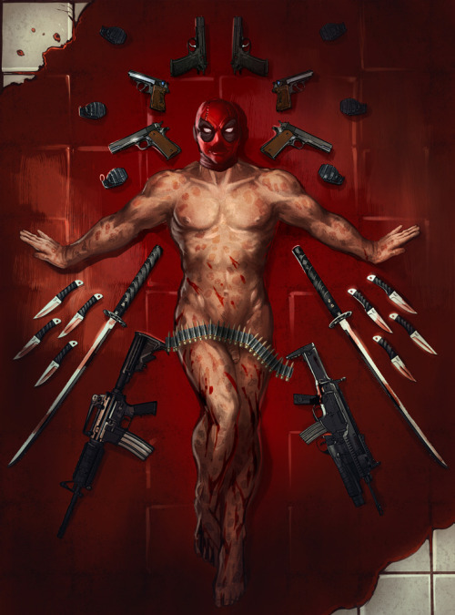 larbestaaargh:  AMERICAN BEAUTY DEADPOOL. I AM NOT EVEN SORRY