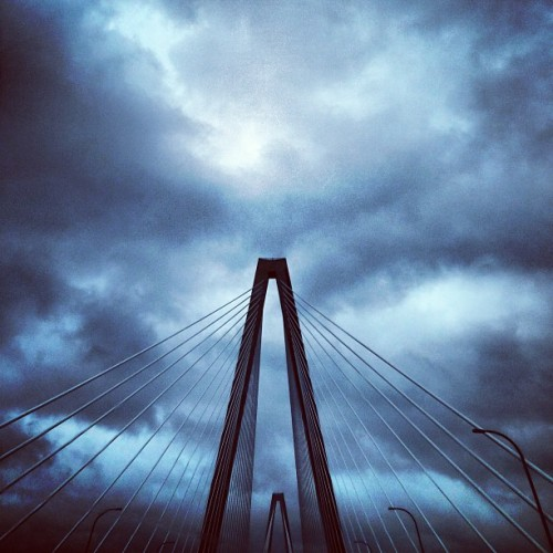 Sandy's tail. (at Arthur J. Ravenel Jr. Bridge)