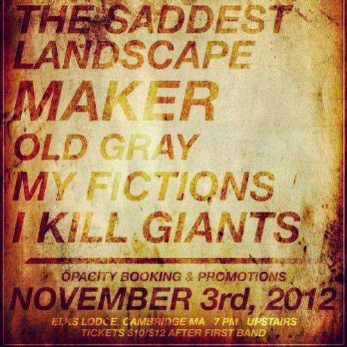 Playing what is likely our last show this year next Saturday in Cambridge, MA: http://on.fb.me/ShxCGT