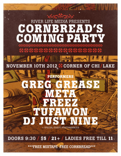 Flyer for Greg Grease. Check him out right now!