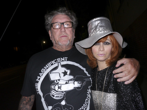 Steve Jones from the Sex Pistols and the legendary Linda Ramone last night at Dee Dee Ramone's opening at Subliminal Projects. SEE ALL OF THE EXCLUSIVE PHOTOS ON MY FACTORY 77. Photo by Brad Elterman