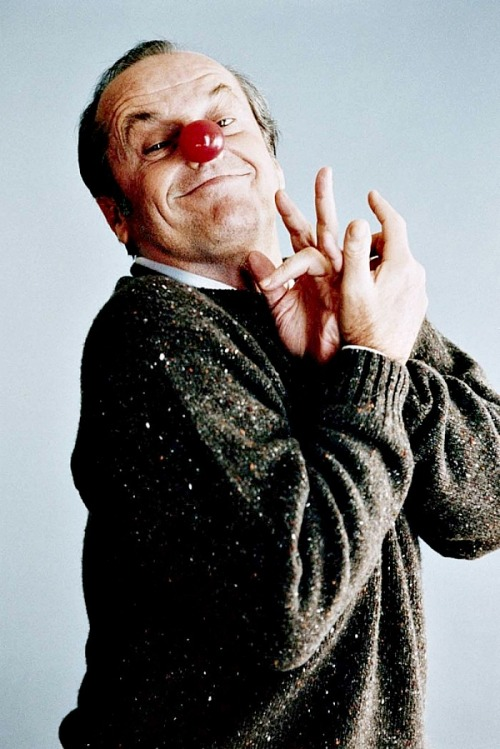 Jack Nicholson's silly face photographed by Willy Rizzo