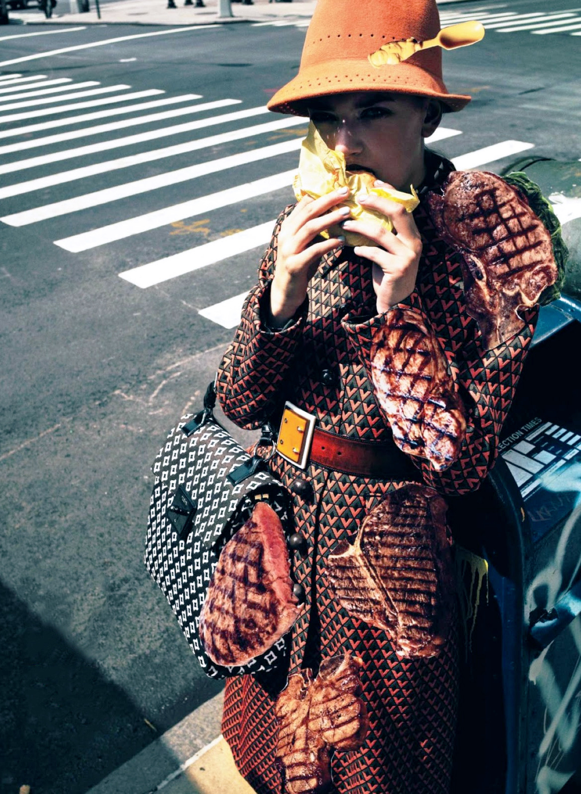 Feeding My Fashion, Bregje Heinen by Cedric Buchet for Vogue Japan December 2012.