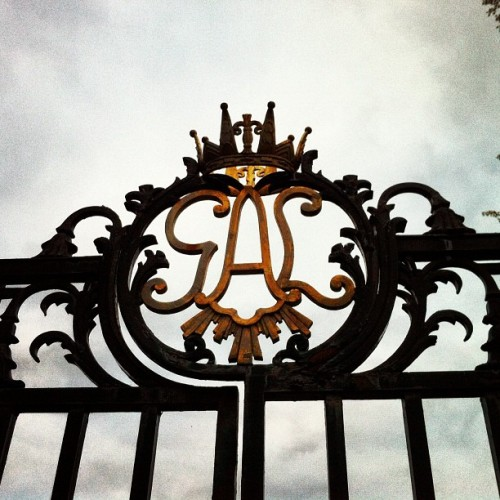 the crown. #stockholm #sweden #travel #visitsweden #gate (at Ulriksdals Slottspark)