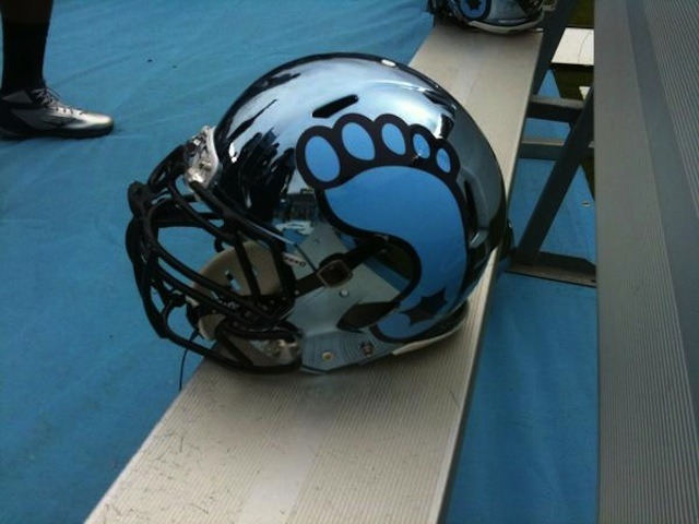 Thumbs up or thumbs down for the helmets the North Carolina Tar Heels are wearing today?