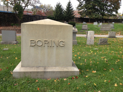 the living are as boring as the dead