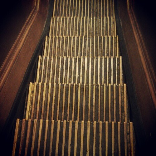 Old escalator at Macy's
