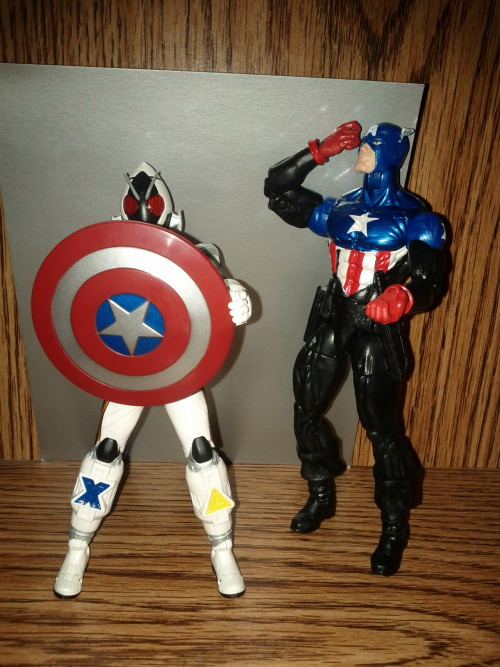 As soon as Bucky came home, Gentarou proceeded to steal his shield!