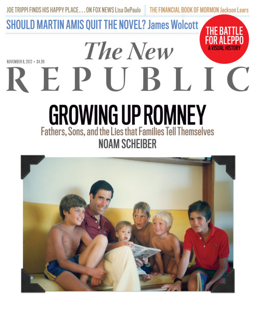 Tumblr fans, ICYMI: the newest issue of TNR hit newsstands this week. Be sure to check out Noam Scheiber's cover profile of Tagg Romney, Timothy Noah on Erskine Bowles, Alec MacGillis on a washed up punk rocker and the campaign to steal Ohio, Eliza Griswold on the terrifying rise of Greece's Nazi party, Max Boot on Bin Laden, and Jackson Lears on the Mormon ethic and the spirit of capitalism. Check it out and subscribe here: http://bit.ly/R9TWOZ