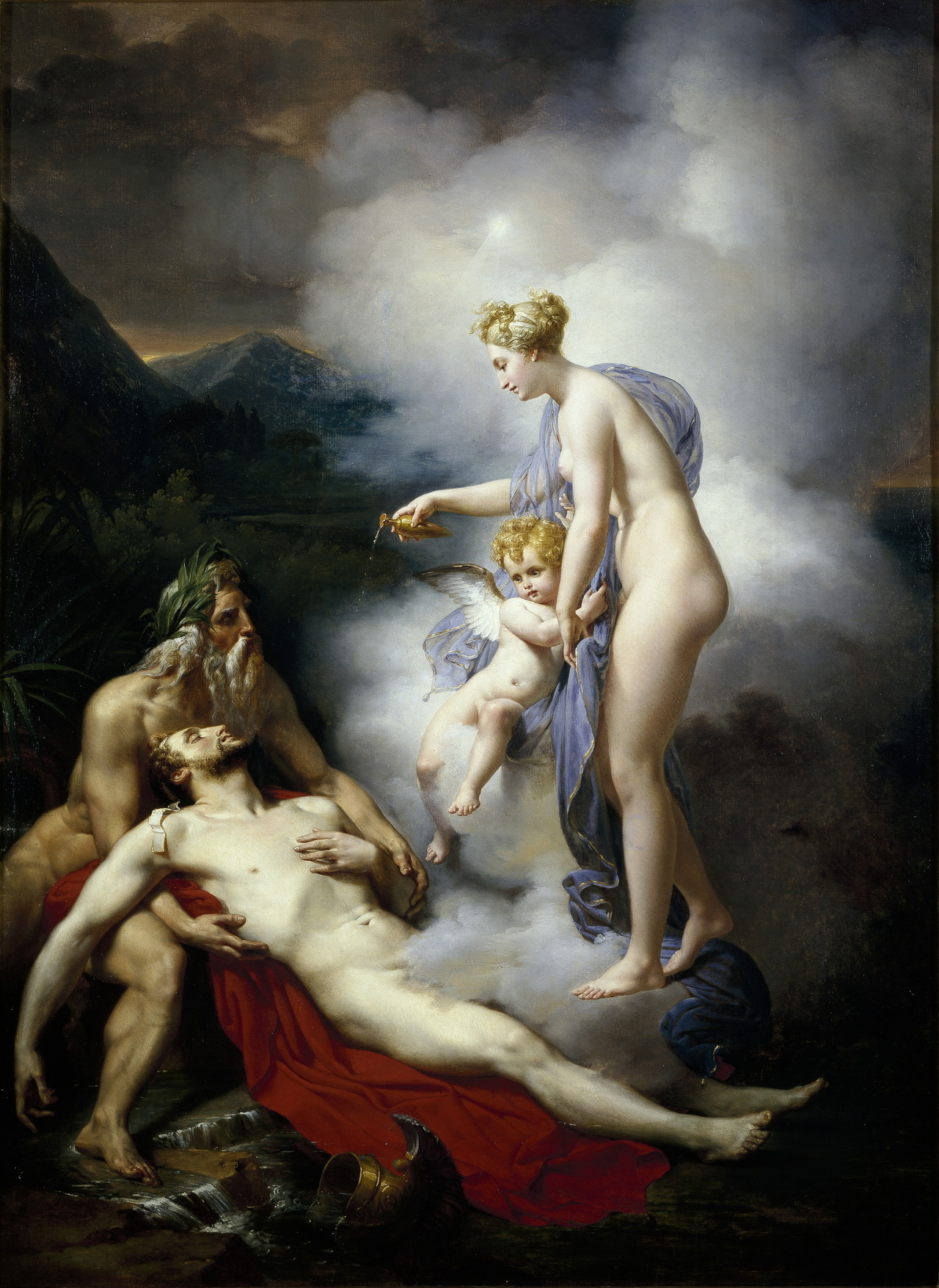 necspenecmetu:  French School, Venus Healing Adonis, 18th century