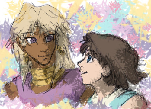 Marik, Tea, and lots of colors by ~ArtisteFish Some more Marik/Tea art. This will not be the last of it.