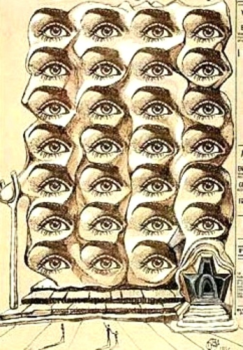 frenchtwist: Architecture of the Eyes by Salvador Dalí, 1975Also
