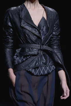 Love the leather detailing at Haider Ackermann SS13