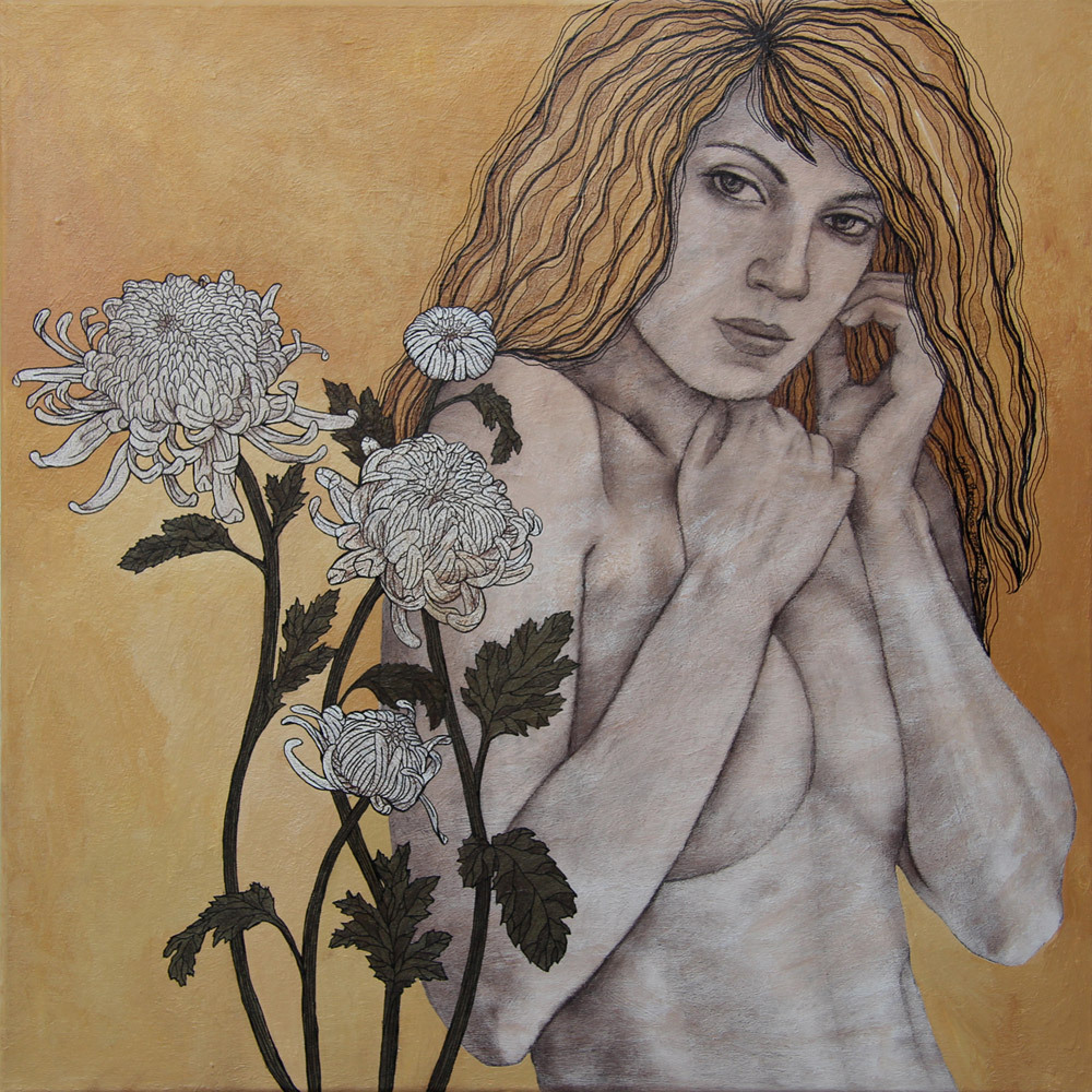 NEVER MIND70 x 60 cmacrylic on canvas, sepia, pen2011