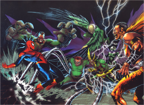 comicblah:  Spidey vs. the Sinister Six by Jae Lee