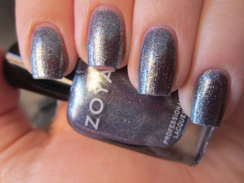 "zoya ""fei fei' Ah-MAZE-ING!!!! seriously one of the most complex polishes ever! this is similar to the new opi one too so i didn't end up getting that one but this is such a complex polish.  theres blue, gold, purple, nude, and pink flecks in there that make this granite looking ultra-shimmery polish.  this is 3 coats."