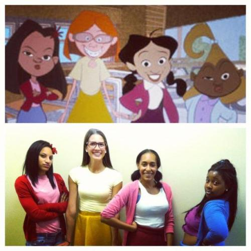 my cousin (dijonay) and her friends for halloween!