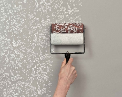 Patterned Paint Rollers by The Painted House I really like these clever paint rollers that recreate the look of traditional handmade block printed wallpaper. Reusable and interchangeable these fantastic rollers come in 9 different designs and can be used on both fabrics, papers and walls.  Artists: | Website | Etsy | [via: Flodeau]
