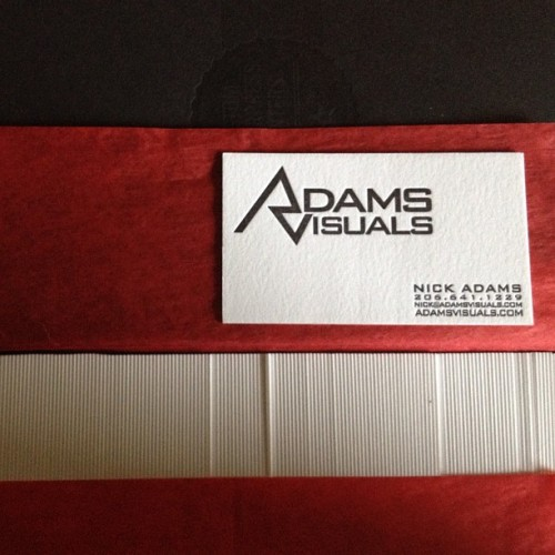 adamsvisuals:  Letterpress business cards have arrived. #letterpress #seattle #businesscard  SLEEK!