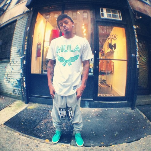 #Mula tee. #robinson swag. #remixed @knarlydb out front #rocksmith new York city. #kickstrike #ninjas