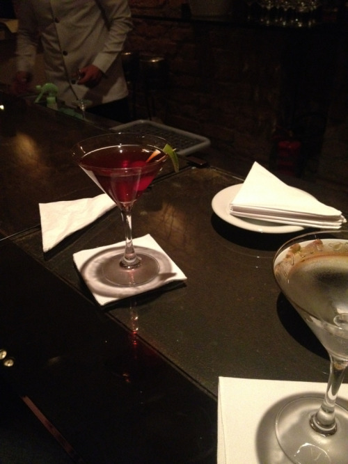 Manhattan and Dry martini