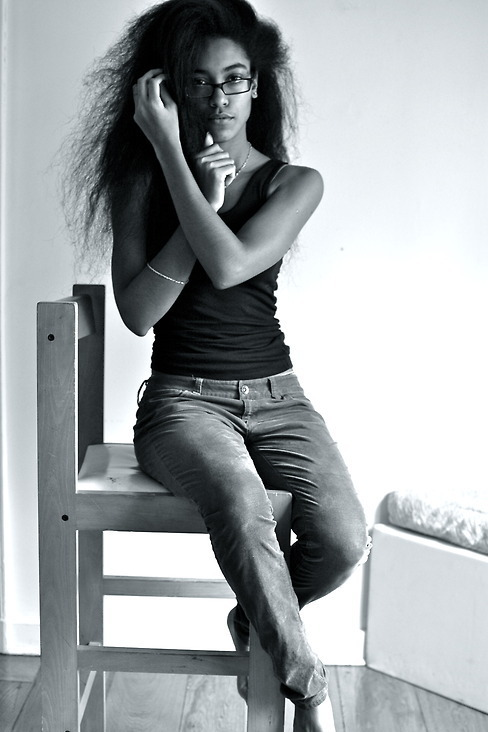 blackfashion:  Tank: random, Pants: Uniqlo Lauren,18,NYLaurenmuller.tumblr.com #Blackfashion FacebookTwitter @BlackFashionbyj