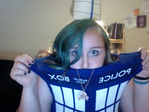 "doingitallformyself:  Went to a costume party as the TARDIS, walked away with the ""Cutest Costume"" award :)"