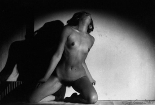 Faceless Body-Sculpture in Dancing Movement with Shadow by Orlan, 1965 From Body-Sculptures series, 1964-1967 Also