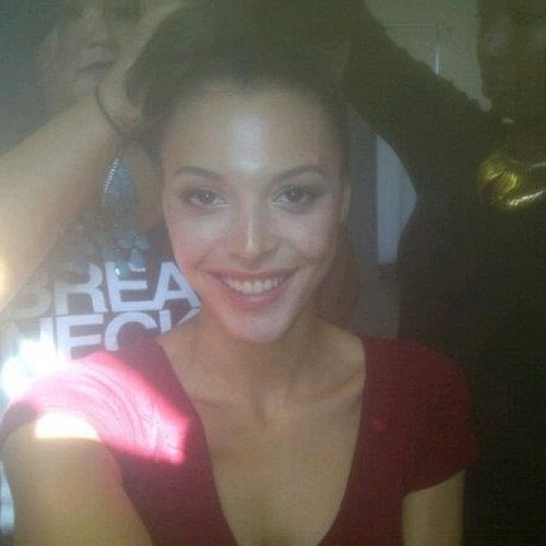 Doing hair and makeup on the beautiful Mecia Simson, winner of Britain's Next Top Model with @stylebydiara #bntm #photoshoot