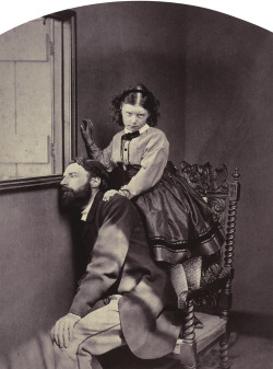 womaninterrupted:   Lewis Carroll, Rev. Thomas Childe Barker and his daughter, May 1864  I find this supremely creepy and I love it.