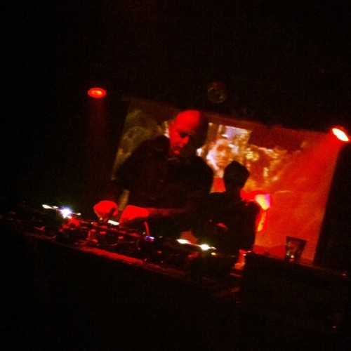 @shitrobot w/ Labyrinth playing in the back at @hificlub last night. #yyc #yycmusic