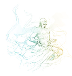 jasjuliet:   Always breathe.  I like the idea of an older Aang taking spiritual sabbaticals and letting his grow out again. Because Hermits always have shaggy hair, don't they?