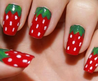 Amity strawberry nails.
