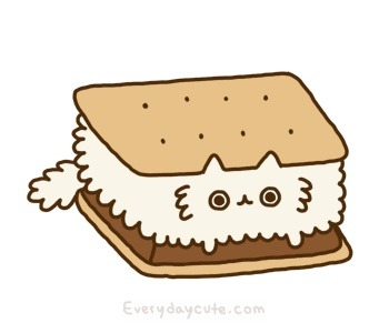 Kawaii of the Day 298 – Kitty smore http://bit.ly/Spybha